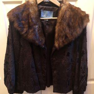 Brown fur coat (ninewest)